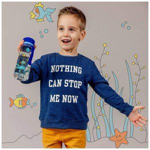 H&M 'Nothing Can Stop Me Now' Blue Sweatshirt